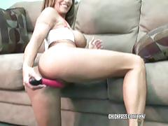 Mature hottie leeanna heart is fucking her toy
