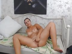 Chunky dude fucking her sexy babe roommate