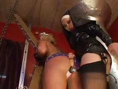 Brutal lesbian mistress