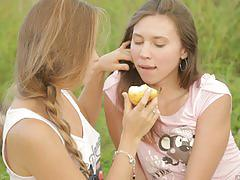 "Euro teens kaitlyn and diva in ""village girls"""