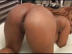 Big breast horny young ebony fucked