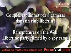 Spy cam at french private party! camera espion en soiree privee. part313