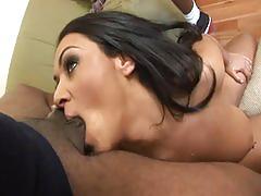 Deepthroat slut swallows 7 loads of nut