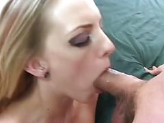 Blonde getting fucked on home bed
