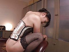 babe, japanese, stockings, blowjob, face sitting, bubble butt, fingering, corset, censored, pussy eating, erito av stars, erito, sho nishino
