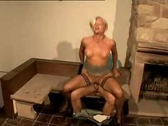 Hot blonde german milf with her impressive body