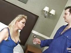 Debbie barry sucks & fucks plumber