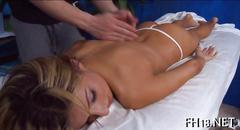 Beauty is getting her juicy and meaty ass massaged