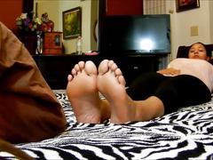 Latina footjob