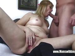 Step mom takes in young cock