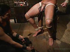 handjob, bdsm, tied up, gay, cbt, metal clamps, candle wax, 30 minutes of torment, kink men, jacob durham