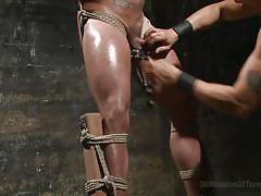 Asian master beats his gay hunk slave