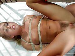 blonde, bdsm, babe, fingering, tied up, ropes, suffocation, unshaved cunt, sex and submission, kink, carter cruise, mr. pete
