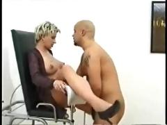 German preggo fucking her doc