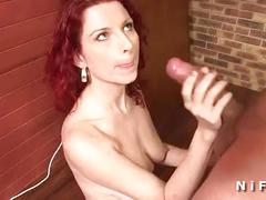Redhead french milf gets hard fucked