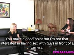 Femaleagent ravishing blonde can't get enough of busty agent