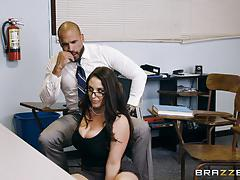 Muff hole banged kinky teacher angela white