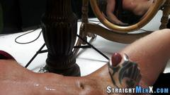 Jock masturbates and cums