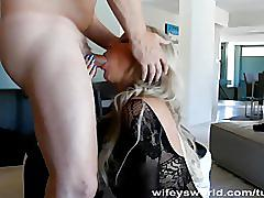 Wifey gets fucked and swallow cum