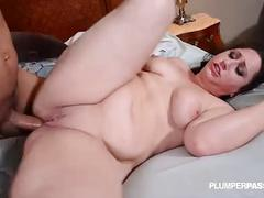 Big booty brunette nurse takes cock deep in her ass