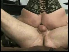 Horny slave gives master a good fuck and sucks his cock untill he cums on her masked face