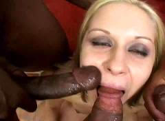 blondes, interracial, threesomes