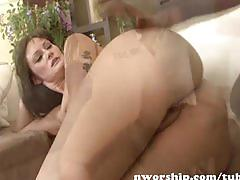 hardcore, nworship.com, bbc, interracial, brunette, deepthroat, sucking dick, natural tits, reverse cowgirl, cowgirl, heels, doggy style
