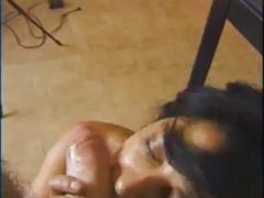 Italian mature gets her hairy pussy filled !