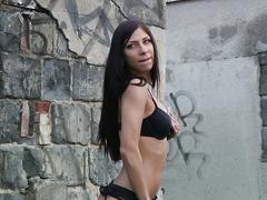 Rachel evans - sexy brunette pornstar