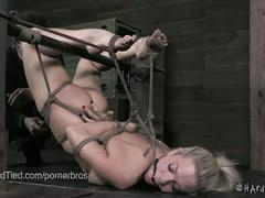 babe, blonde, pussy, beauty, bondage, cutie, dungeon, exploited, extreme, forced, glamour, gorgeous, masochism, painful, platinum blonde, sadistic, slave, torture