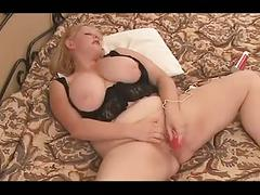 Big tit chubby blond