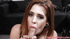 Inked alt babes anally fucked in threesome