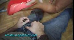 Dirty czech amateur does rough lapdance