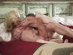 Busty platinum blonde gets rammed hard