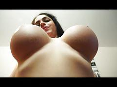 Naughty marta lacroft shows off her massive boobs