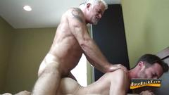 bareback, bear, old and young, anal, blowjob, cumshot, hardcore, masturbation