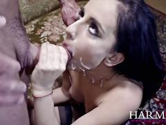 Harmony vision petite girl takes on a massive dick