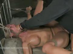 bdsm, fetish, hardcore, pornstar, hd, bindfold, bondage rope bondage, breast bondage, breath play, deep throating, drool, electricity, face fucking, fucking, gag, hand over mouth, inverted suspension, mild, nipple suction, nose hook