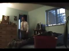 Husband catches wife cheating on hidden cam