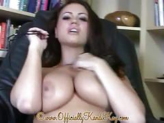 Sexy librarian babe strips naked