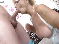Naughty mature mom seduce young stepson taboo