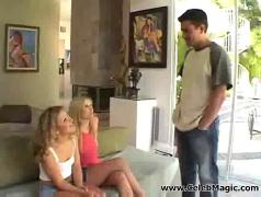 Sweet blond hookers share a lot