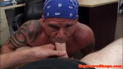 Muscular pawner buttfucked pov style