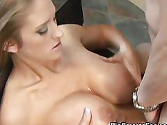 Fucked and titty fucking abby rode gets jizzed!