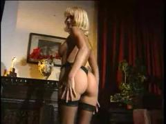 The arousing european girls entertain three guys