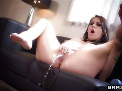 orgasm, young girl, masturbation, squirting, blowjob, dildo, vibrator, brunette, pov, shaved pussy, she's gonna squirt, brazzers network, keiran lee, luna kitsuen