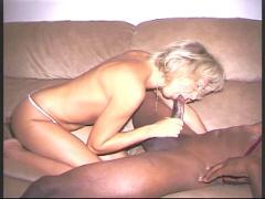 German blonde goes interracial
