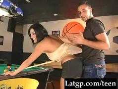 Fucked-on-the-pool-table clip1