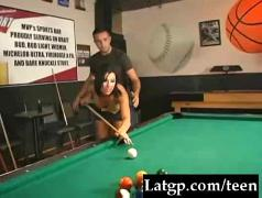 Fucked-on-the-pool-table clip0