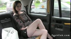 Beautiful british girl ass fucked in a cab